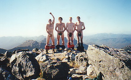 Nude on Federation Peak