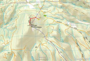 Mt Saddleback route