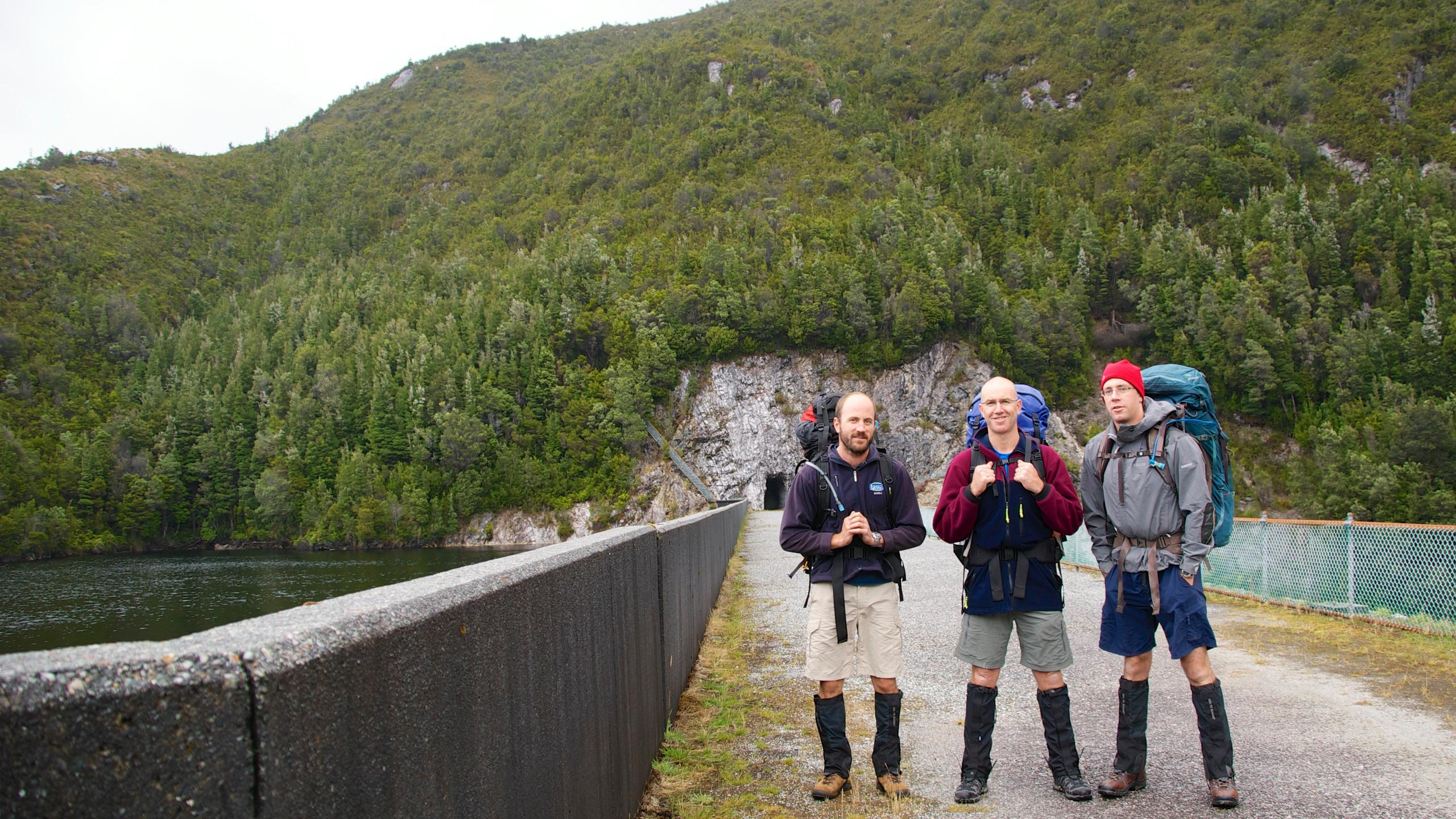 Start of walk. Serpentine Dam wall
