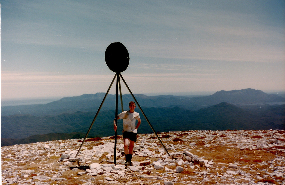 Mowser on the summit of Frenchmans Cap