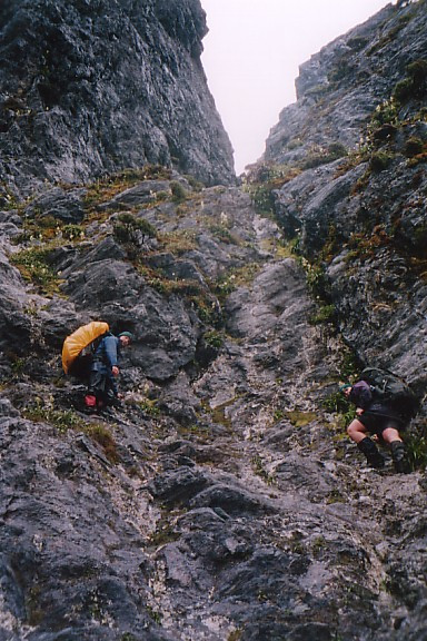 Nearing the bottom of Geeves Gully