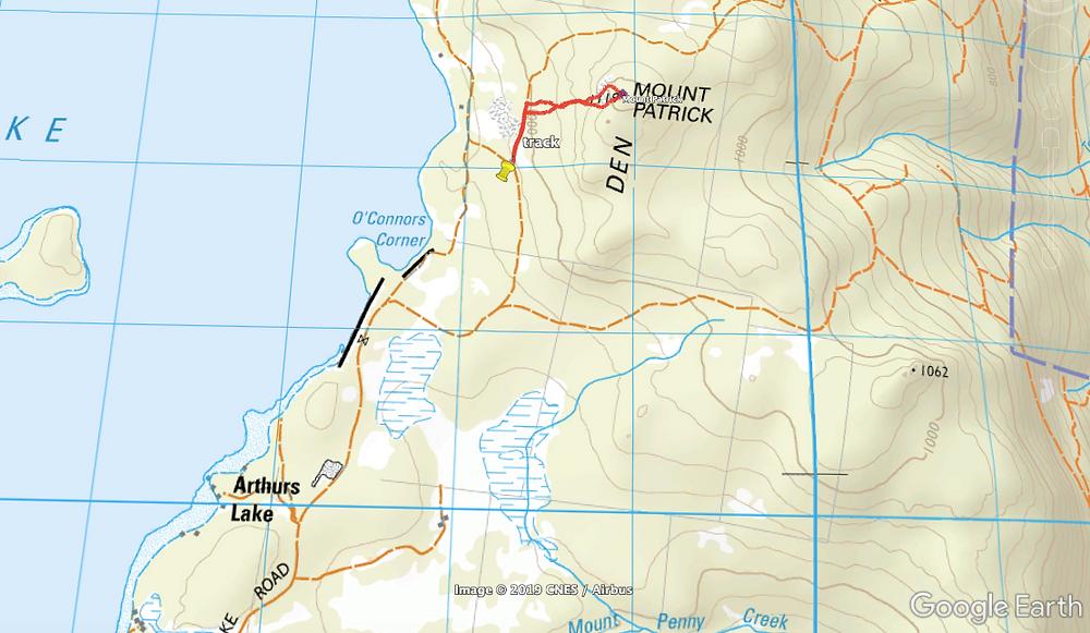 Mt Patrick Tasmania, route to summit