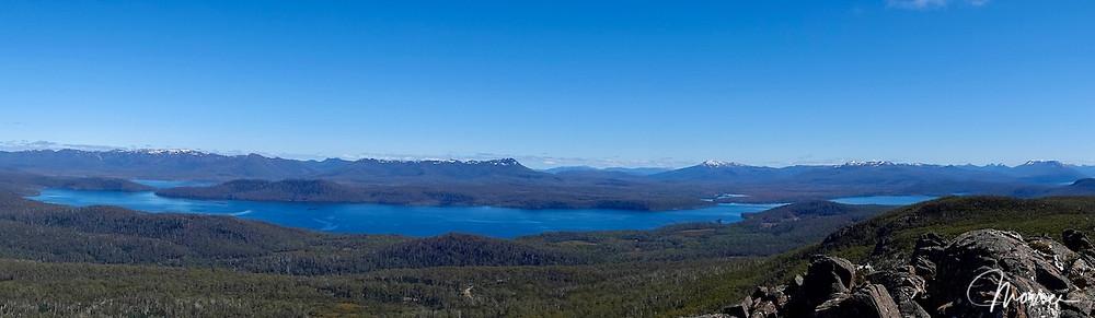 Lake King William, King William Range, Mt Gell, and peaks of Central Tasmania