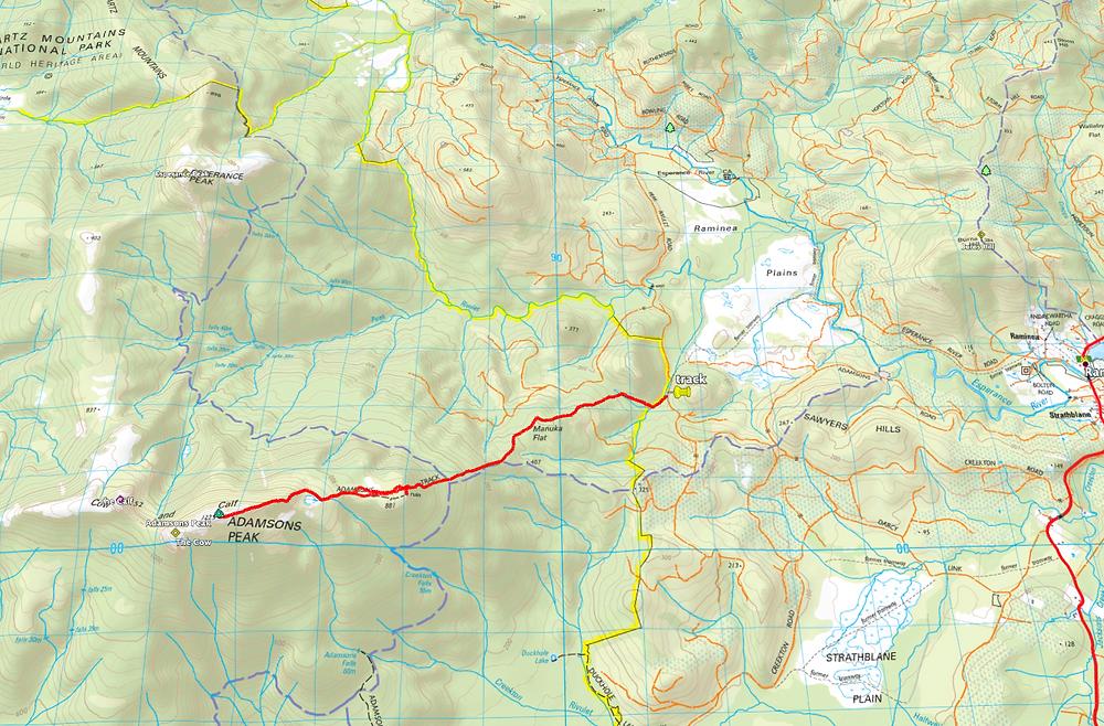 Adamsons Peak Route