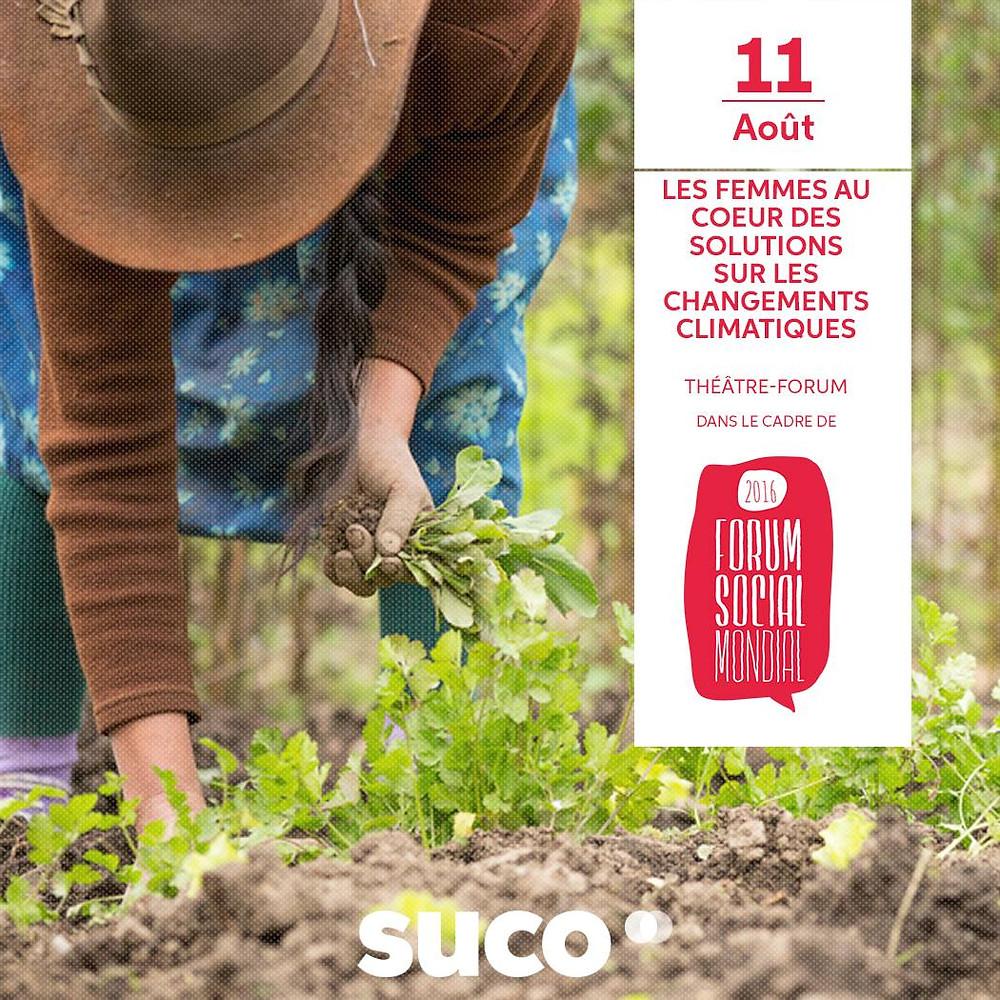Les Femmes au cœur des solutions sur les changements climatiques (source : Suco)
