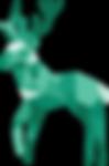 Green Reindeer Large