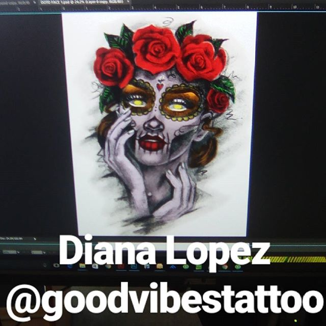 Shirt Designs in progress for this weekend's event , artwork provided by the talented _dianalopeztat
