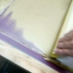 2 color metallic screen print process