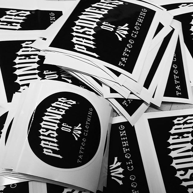 Print & cut slaps for our friends at _prisoners_of_ink tattoo clothing brand