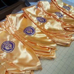 Yes we can do large orders ! Custom embroidered sashes
