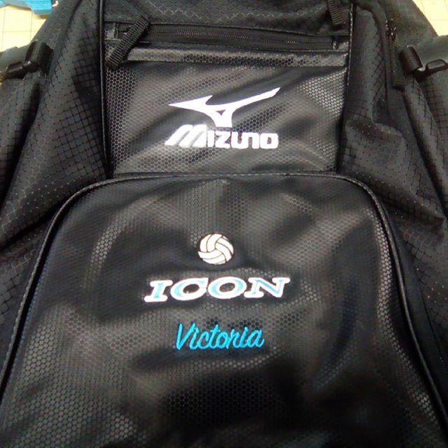 Personalized backpack, added name and volleyball