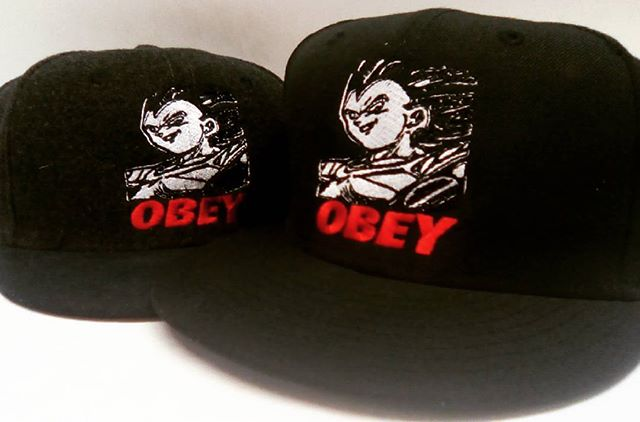 Saiyan obey hats , contact us for pricing