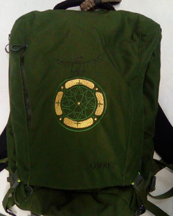 Custom embroidered backpack
