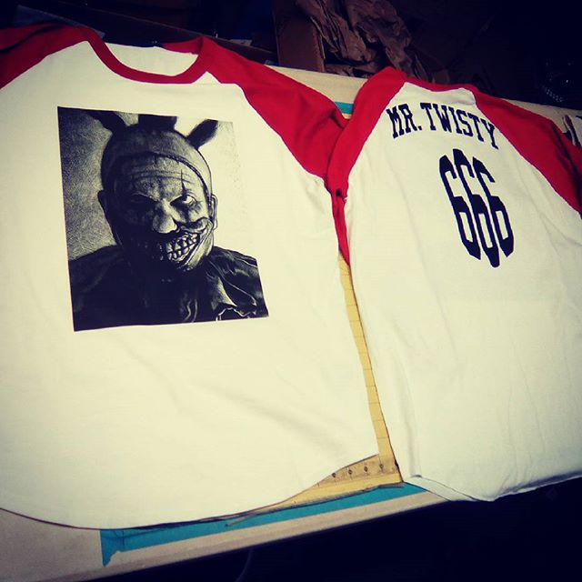 AHS Halloween baseball tees #screenprint #thermalpress
