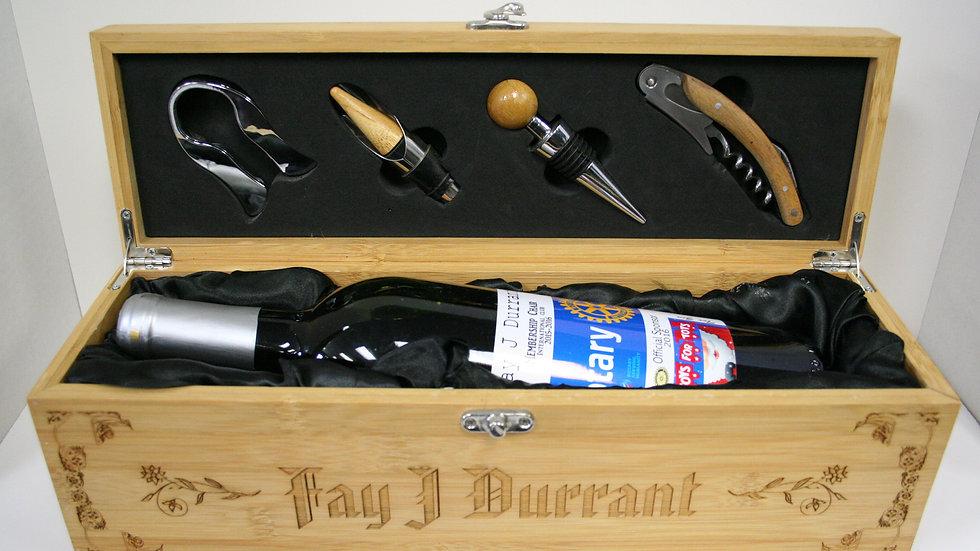 Custom Wine Box- Bamboo