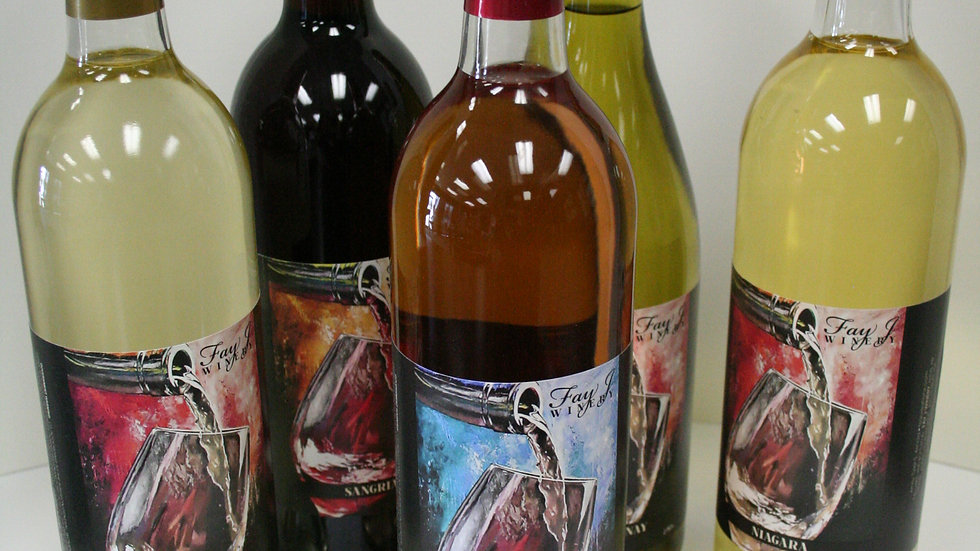 Wine Case- Fay J Winery's Label