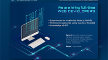 H LAB is hiring Web Developers!