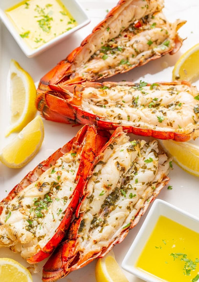 Grilled Lobster Tails (Calories 177Kcal )