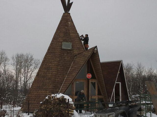 tee pee shingled