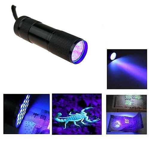 UV Flashlight Ultraviolet Blacklight to Protect from germs/unknown substances