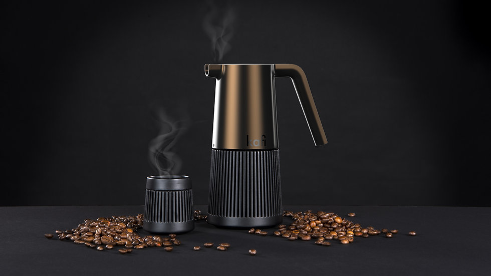 Marc Gerbe Design Esspressokocher Produktfamilie Kaffee