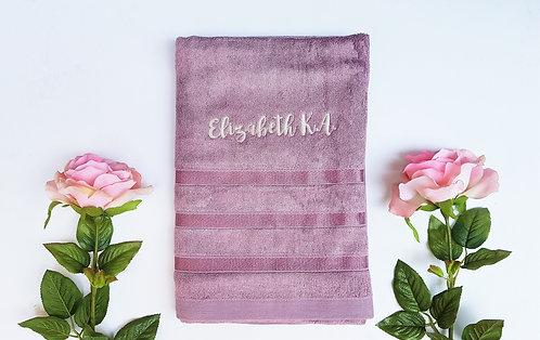 Luxurious Lavender Bamboo Bath Towel
