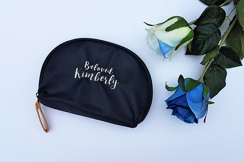Beauty Pouch (2-lines embroidery)