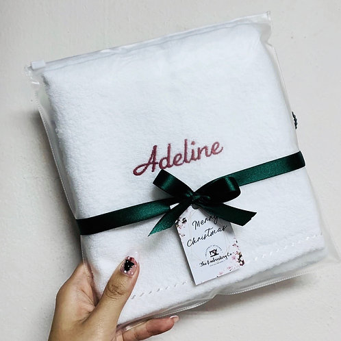 White Classic Cotton Hand Towel