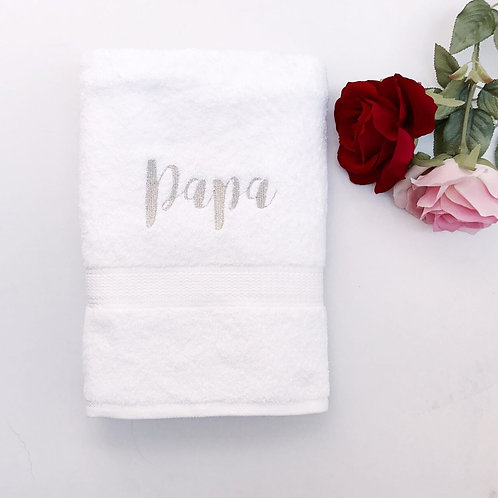 White Royal Cotton BATH Towel