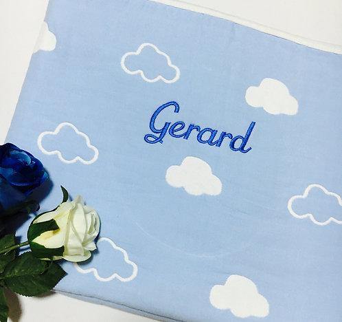 Blue Cloud Baby Blanket