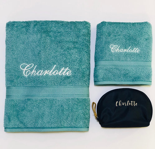 Deluxe Towels & Pouch set