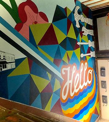 Hello mural Danville Indiana