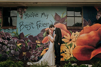 Best Friend mural Danville Indiana wedding venue