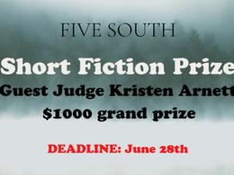 Short Fiction Prize - $1000 Awarded