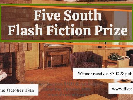 Flash Fiction Prize - $500 Awarded