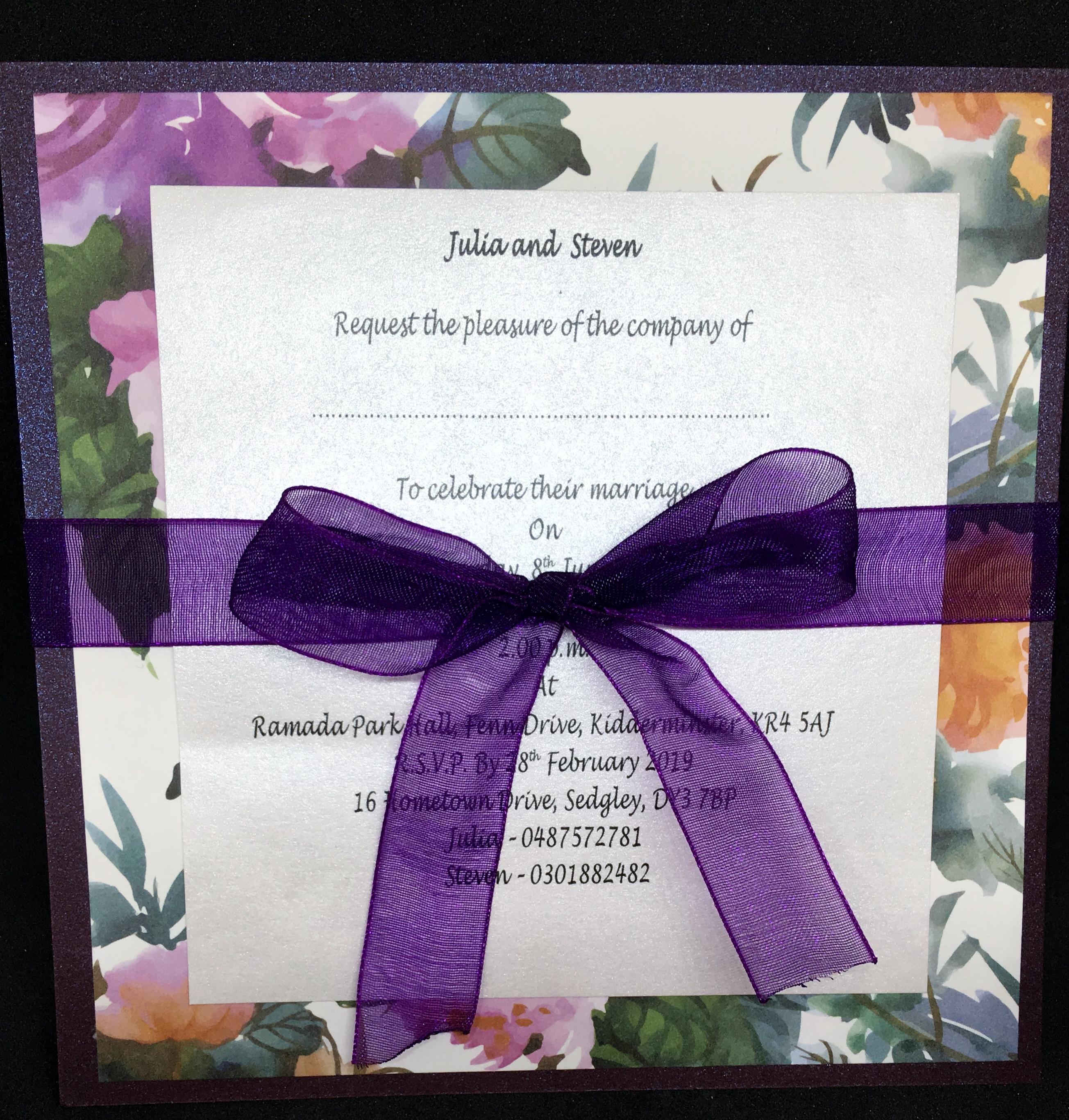 Purple Floral - £1.50