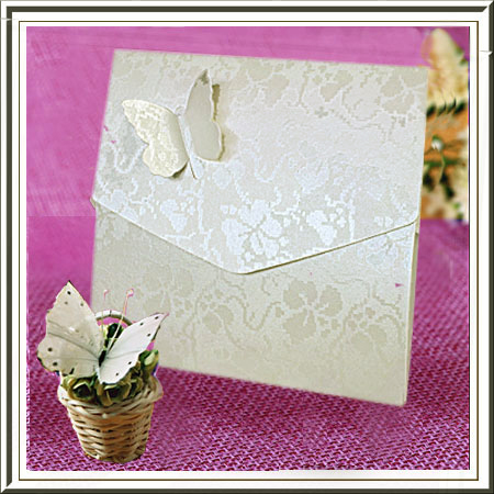 White Broderie Butterfly Pocketfold