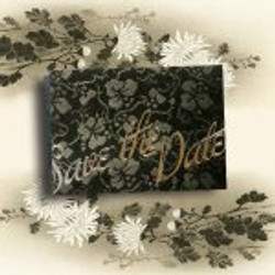 BLACK BRODERIE SAVE THE DATE
