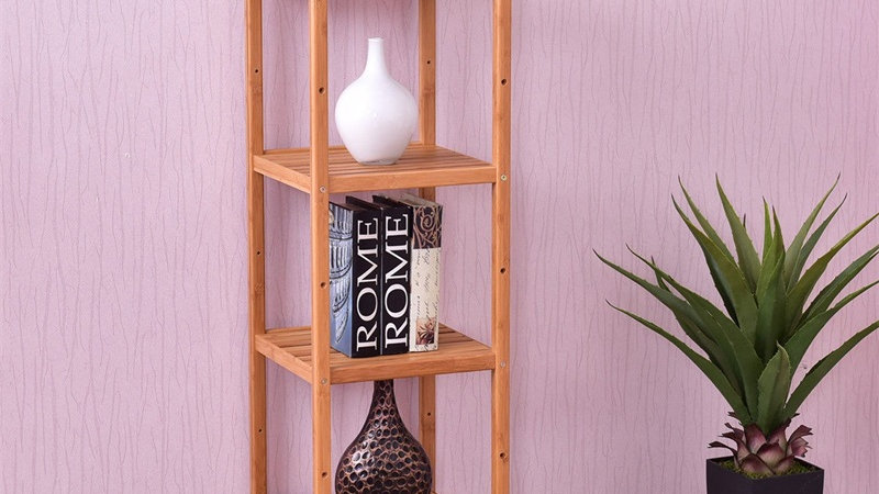 4 Tiers Multifunction Bamboo Storage Shelving