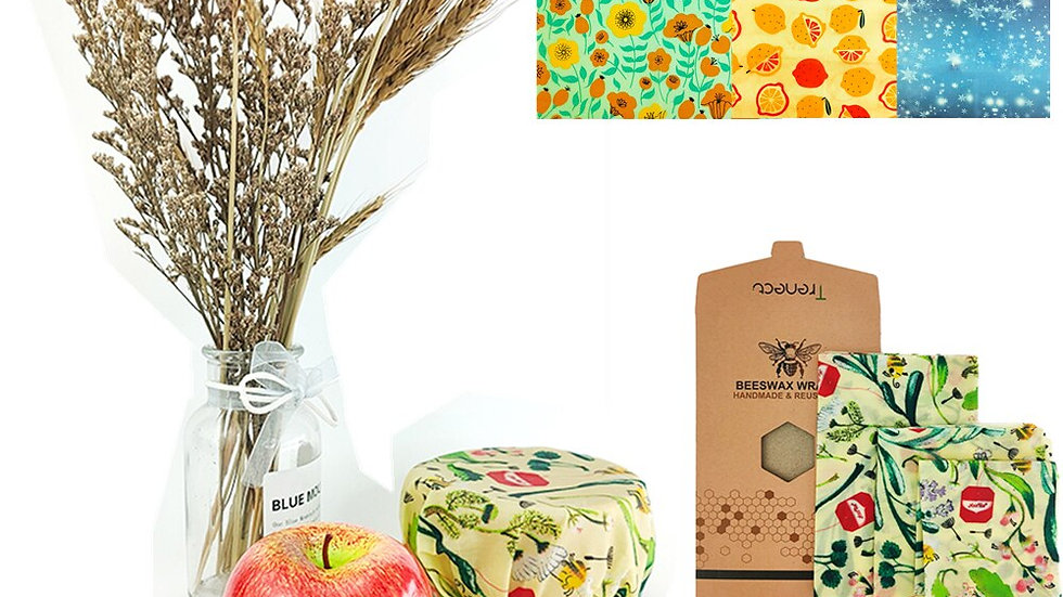 Organic Beeswax Wrap Cling Wrap Replacement - sandwich
