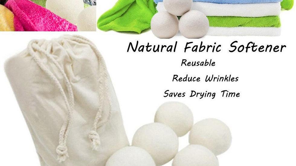 2/4pcs Reusable Natural Fabric Softener Organic Wool Dryer Balls #T1P