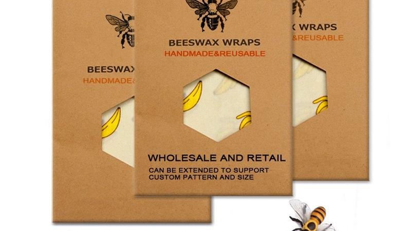 Reusable Food Wraps  Organic Beeswax Cloth Wrap Cling Wrap