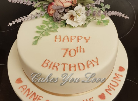 70th Birthday Cake by Cakes You Love