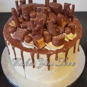 Cadburys drip birthday cake