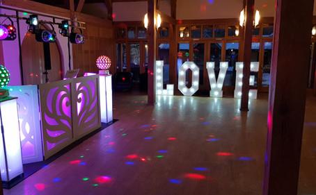 Rivervale Barn wedding discos