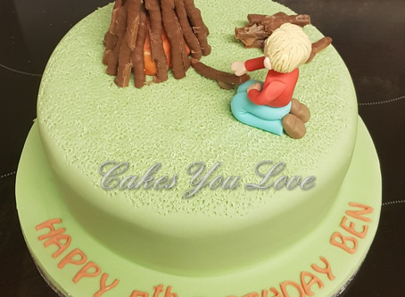 Bonfire birthday cake