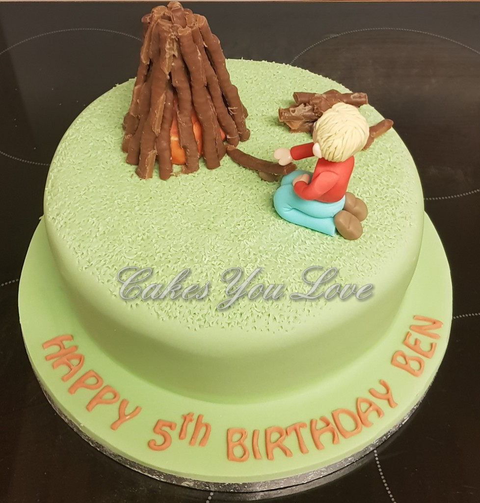 bonfire birthday cake by cakes you love
