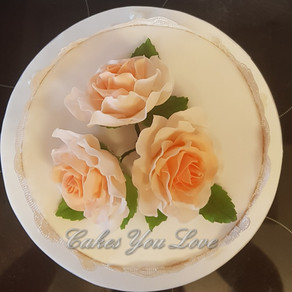 Small simple wedding cake  created by Cakes You Love