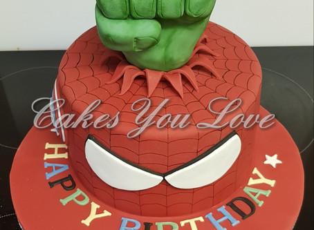 Superhero birthday cake created by Cakes You Love