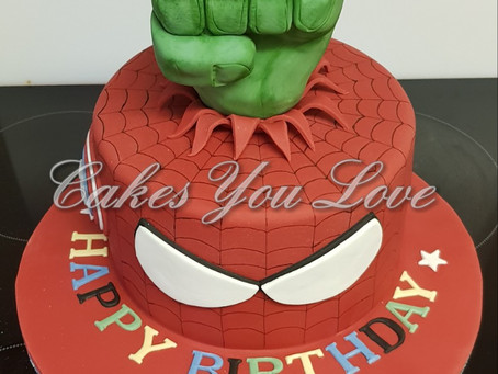 Superhero birthday cake created by Cakes You Love